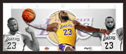 Lebron James La Lakers Double Trouble Framed Wings Style Lithograph