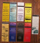 Boonville, Missouri Lot Of 9 Different Matchbook Matchcovers -h