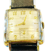 Vintage Lord Elgin Menand039s Wrist Watch 1950and039s Buckle Strap