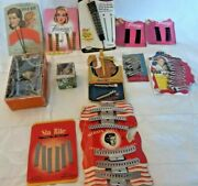 Rare Vintage Hair Lot Wave Clips Curlers Bob Pins Metal 1940s-50s Nos Packaging