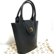 Auth Vintage Mcm Munchen Black Leather Hand Bag Purse Made In Germany