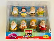 New Fisher Price Little People Disney Snow White And The Seven Dwarfs Figure Set