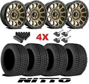 Bronze Wheels Rims Tires 285 70 17 At Nitto Terra Grappler Package Fuel Vector