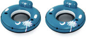 Bestway Inflatable Hydro-force River Run Tube Float Palm Tree 2 Pack Pool Lake