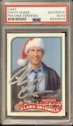 Chevy Chase Signed Card National Lampoons Christmas Vacation Clark Auto Psa/dna