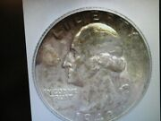 1942-s Washington Silver 25 Cents Icg Ms 66+ Nice Toning Lists For 325
