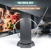 Indoor Digital Tv Antenna Table Amplified Signal Booster Hdtv Uhf Vhf Fm - New