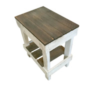 20 Inch Pine Reclaimed Wood Slim End Table 70 Lbs. Weight Capacity New
