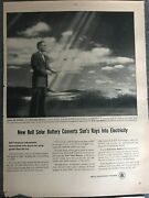 Bell Telephone Systemnew Bell Solar Battery Converts1954 Vintage Print Ad A88