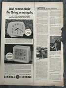 General Electric Clocksthe Wink The Drummer1950and039s Vintage Print Ad A70