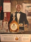 Walkers Deluxe Bourbonits Walkers In A Gift Decanter1953 Vintage Print Ad B08