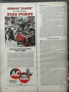 Ac Fuel Pumpscolonial Pumperfirst And Finest1950's Vintage Print Ad A58