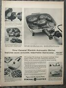 Ge Automatic Skilletaccurate, Removable Thermostat1950,s Vintage Print Ad A85