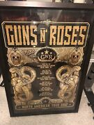 Guns N Roses North American Tour 2012 Poster Signed