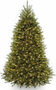 National Tree 7.5 Foot Dunhill Fir Christmas Tree With 600 Clear Lights