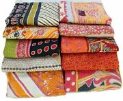 Bohemian Kantha Quilts Handmade Vintage Indian Throw Blanket Wholesale 10 Pc Lot