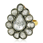 1.64ct Natural Diamond Cocktail Ring 14k Gold 925 Sterling Silver Jewelry