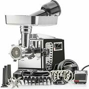 Turboforce Iiplatinum W/foot Pedal Heavy Duty Electric Meat Grinder And Sausage
