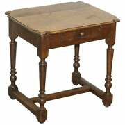 18th Century Dutch Oak Occasional Side Table With Single Drawer Lovely Timber