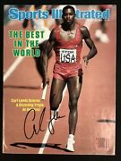 Carl Lewis Signed Sports Illustrated Mag 8/22/83 No Label Olympics Gold Auto Jsa