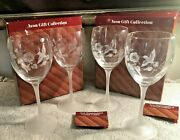 Avon Hummingbird Crystal Water Goblets Brand New In Box Set Of 4 France