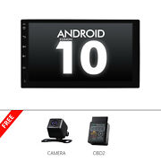 Cam+obd+double 2din Car Stereo Android 10 Gps Navi Wifi Bluetooth Usb Fm Mp5 7