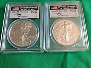 2014 Silver Eagle Pcgs Ms70 First Strike - Mercanti Signature 2 Coins