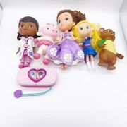 Disney Junior Doll Lot Doc Mcstuffins Sofia The First Goldie And Bear Doll Toys