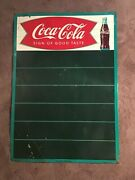 """Vintage 1958 Coca-cola Fishtail Menu Board Advertising Sign By Robertson-28""""x20"""""""