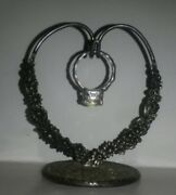 Rare S Kirk And Son Sterling Silver Repousee Ladies Ring Pocket Watch Hanger Heart