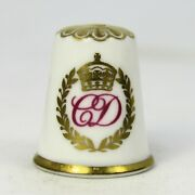 Collectable Fine Bone China Thimble Charles And Diana July 29th 1981 By Spode