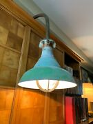Vintage Crouse-hinds Explosion-proof Gooseneck Gas Station Light And Mount