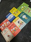 9 Peanuts Charlie Brown Books1950's Rare Collection Vintage See Description-nice