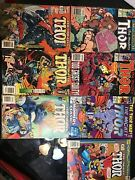 Lot Of 7 The Mighty Thor Comics 411 430439469477484485 Good Condition
