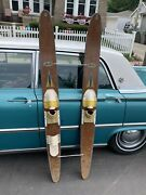 Vintage Apollo 68andrdquo Wood Wooden Nash Water Skis Wall Decor Beach House Display