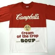 Vintage 80s Campbell Soup Cream Of Crop Andy Warhol Single Stitch T Shirt Large