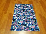 Awesome Rare Vintage Mid Century Retro 70s 60s Psychedelic Women Dig It Fabric