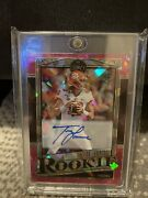 Trevor Lawrence 2021 Panini Legacy Pink Cracked Ice Rookie Rc Auto 5/10 Clemson