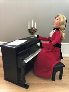 Byers Choice Carolers Victorian Lady Woman With Piano