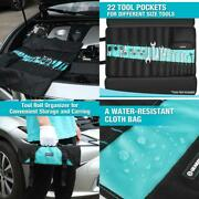 Roll Tool Pouch Wrench Hand Bag Slot Organizer Folding Holder Canvas 22 Pocket