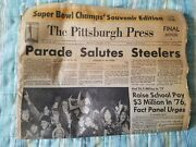 The Pittsburgh Press January 19 1976 Pittsburgh Steelers Superbowl Win Parade