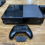 Microsoft Xbox One 500gb Black Day One Edition Console W/ Kinect, Controller, And+