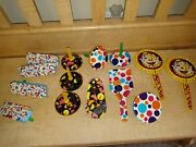 Lot Of Vintage Party Noise Makers New Yearand039s Eve Lithograph Tin Toys Clowns 🤡