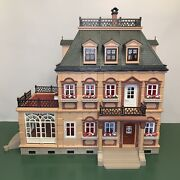 Playmobil Victorian Mansion Dollhouse 5300 With Furniture And People Lot