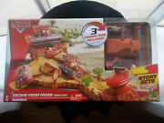 New Disney Pixar Cars Escape From Frank Track Story Set W/ Tractor, Frank, Light