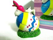 Snoopy Peanuts Charlie Brown Department 56 Ceramic Easter Beagle Box Figure 2014