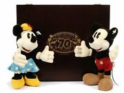 Steiff Mickey And Minnie Mouse Happy 70th Year 1998 Japan Limited Edition Of 3000