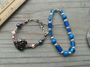 925 Sterling Silver Bali And Glass Beads And Murano Glass Bracelets 7 And 5
