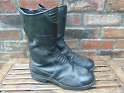 Oxtar Womens Gore-tex Black Leather Motorcycle Boots Euro Size 40 Usa 8