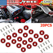 Red Quick Release Fasteners Fastener For Car Bumpers Trunk Fender Hatch Lids Kit